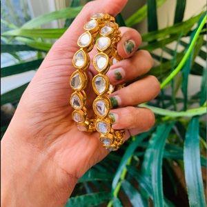 Jewelry - crystal kundan bangles